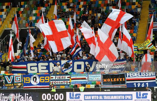 Sampdoria Fans during the serie A match between Udinese and UC Sampdoria at Stadio Friuli on August 26 2018 in Udine Italy