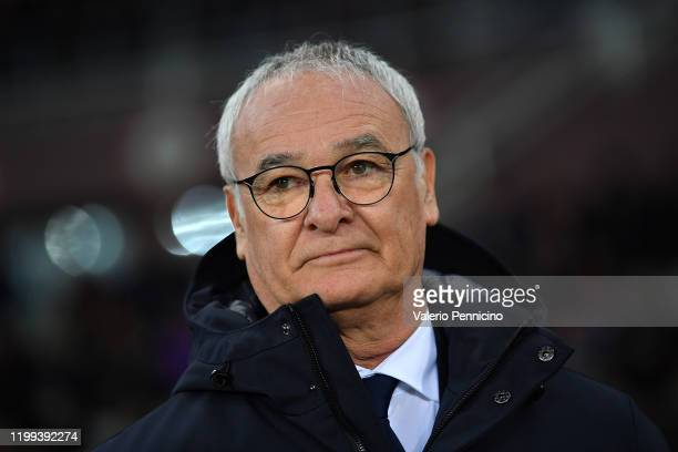Sampdoria head coach Claudio Ranieri looks on during the Serie A match between Torino FC and UC Sampdoria at Stadio Olimpico di Torino on February 8,...