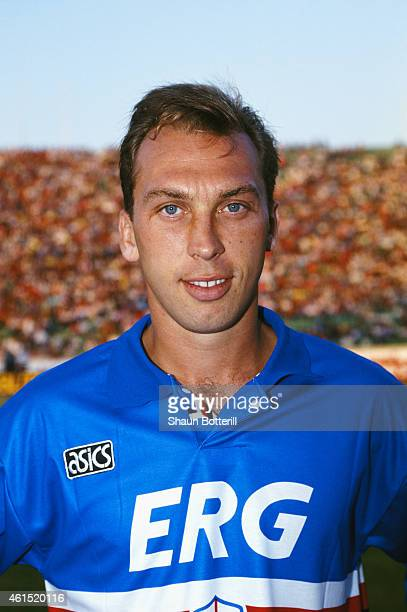 GENOA ITALY JULY 07 Sampdoria player David Platt pictured before an Italian League game in July 1993 in Genoa Italy Platt made over 50 appearances...