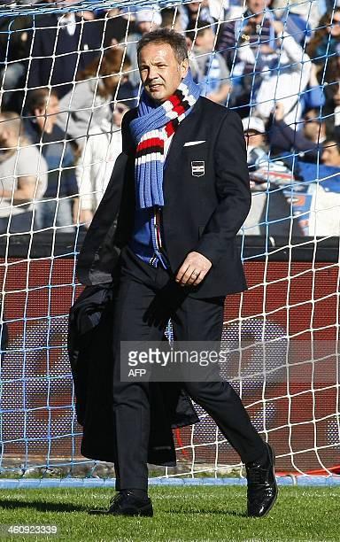 Sampdoria's Serbian coach Sinisa Mihajlovic arrives for the Italian Serie A football match SSC Napoli vs UC Sampdoria in San Paolo Stadium on January...