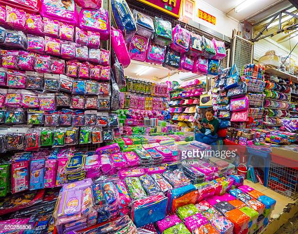 sampeng lane market in chinatown bangkok - pencil case stock photos and pictures
