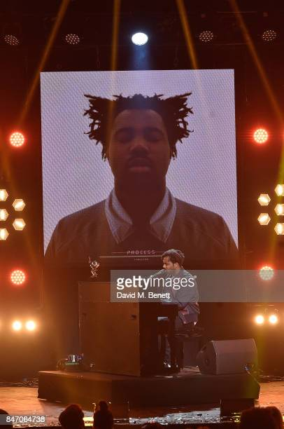 Sampha at the Hyundai Mercury Prize 2017 at Eventim Apollo on September 14 2017 in London England