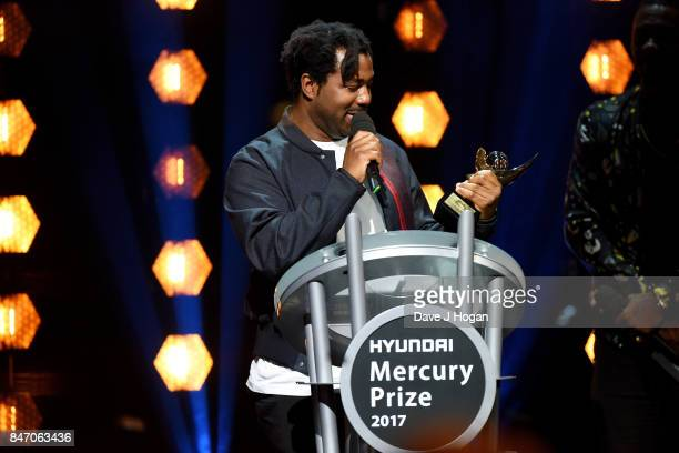 Sampha wins the Hyundai Mercury Prize 2017 at Eventim Apollo on September 14 2017 in London England
