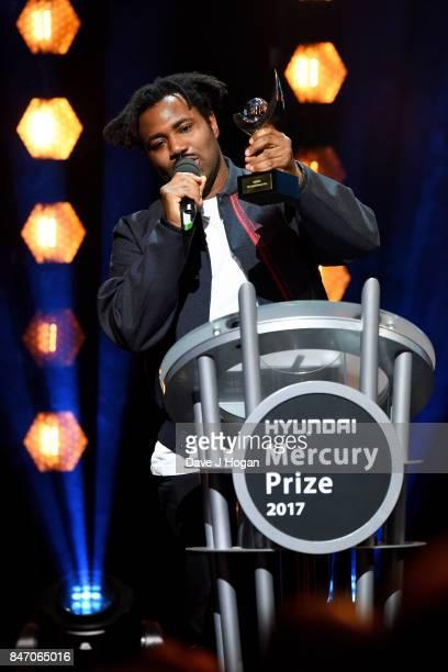 Sampha wins the Hyundai Mercury Prize 2017 at Eventim Apollo on September 14 2017 in London England