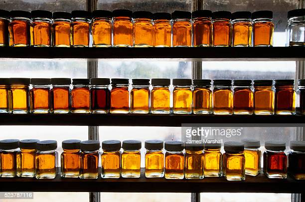 Sample Bottles of Maple Syrup