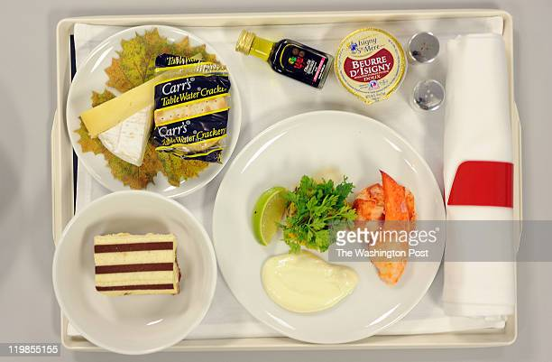 Sample of Airfrance's first class lobster dish is shown at Gate Gourmet its 110,000 square-feet facility near Dulles Int. Airport. The lobster is...