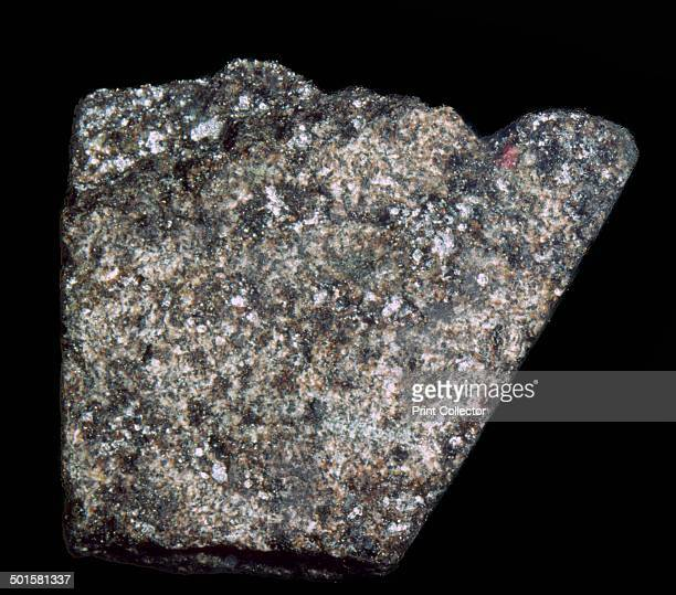 A sample of basalt brought back by Apollo 14 on 5th February 1971 Sample no 14306