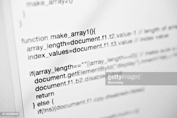 A sample of JavaScript computer code is displayed for a photograph in Tiskilwa Illinois US on Wednesday July 12 2017 Photographer Daniel...