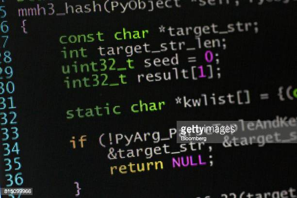 A sample of Python computer code is displayed on a monitor for a photograph in Tiskilwa Illinois US on Wednesday July 12 2017 Python is a widely used...