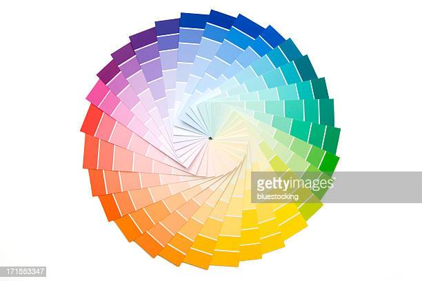 sample paint color palette - color swatch stock pictures, royalty-free photos & images