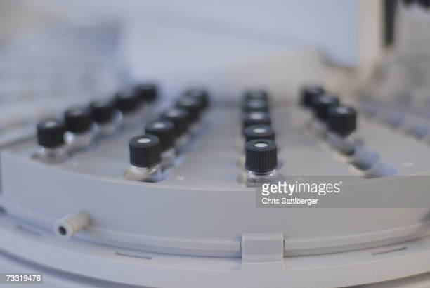 Sample tubes in centrifuge