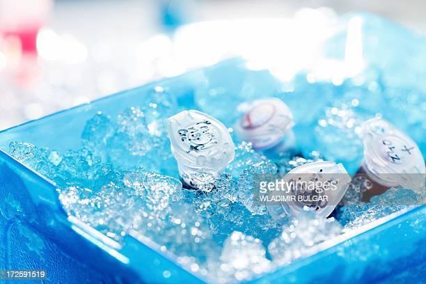 Sample tubes on ice