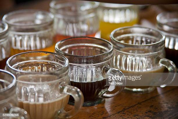 Samples of Indonesian coffees and teas at the Teba Sari Plantation Coffee Luwak or otherwise know by Indonesians as Kopi Luwak The Asian Civet or...