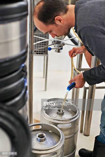 Sampling the brew