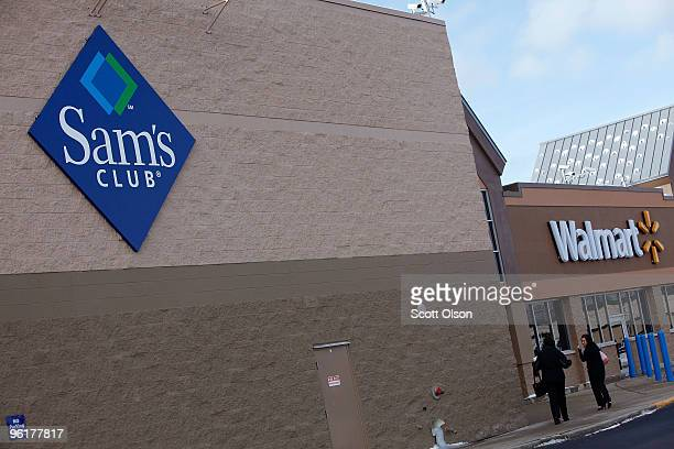 Sam's Club store sits next to a Walmart store January 12 2010 in Rolling Meadows Illinois WalMart Stores Inc the parent company of Sam's Club...
