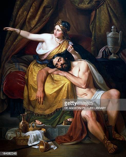 Samson and Delilah painting by Jose Salome Pina Mexico City Museo Nacional De Arte