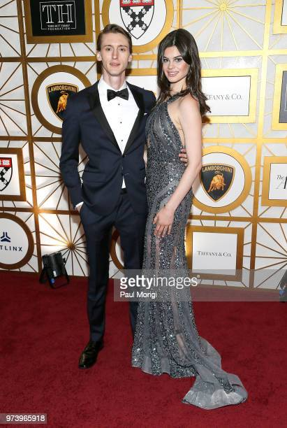 Samson Day and actress Caroline Day attend the Harvard Business School Club's 3rd Annual Leadership Gala Dinner at the Four Seasons Hotel on June 13...