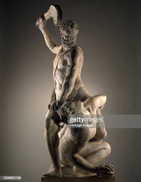 Samson Slaying a Philistine, between 1740 and 1770. After Giambologna Artist John Cheere. .