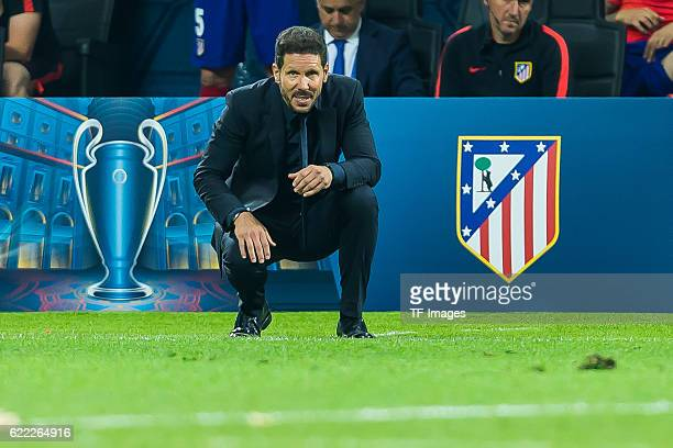 Samstag Champions League Finale in Mailand Saison 2015/2016 Atletico Madrid Real Madrid Trainer Diego Simeone