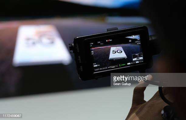 Samsung announces 5G compatible products at the Samsung press conference at the 2019 IFA home electronics and appliances trade fair on September 05...