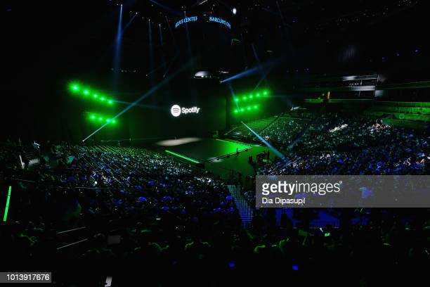 Samsung announces that Spotify is now the company's goto music provider across their multidevice ecosystem at the Samsung Galaxy Unpacked event at...