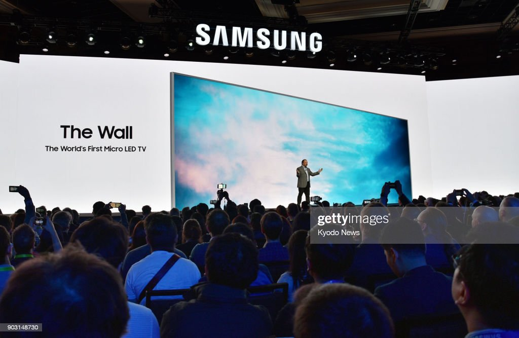 Samsung Electronics Co  unveils a 146-inch modular MicroLED TV