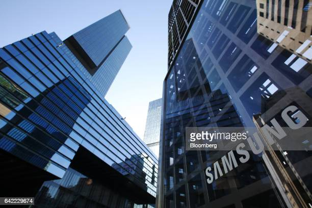 Samsung Electronics Co's Seocho office building stands in Seoul South Korea on Friday Feb 17 2017 Samsung Group's Jay Y Lee was formally arrested on...