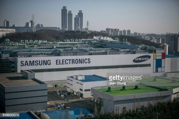 Samsung Electronic's semiconductor factory on March 2, 2017 in HWASEONG, South Korea. Samsung Electronics Co. Has been in the middle of controversy...