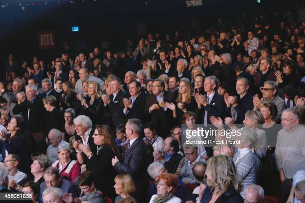 Samsung France Jacques Mollet, CEO Group Bouygues Martin Bouygues, CEO Group TF1 Nonce Paolini with his wife Catherine Falgayrac, Journalist...