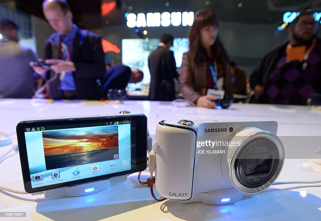 Samsung Galaxy Camera at Samsung booth at the 2013 International CES at the Las Vegas Convention Center on January 10, 2013 in Las Vegas, Nevada. CES, the world's largest annual consumer technology trade show, runs from January 8-11 and is expected to feature 3,100 exhibitors showing off their latest products and services to about 150,000 attendees.