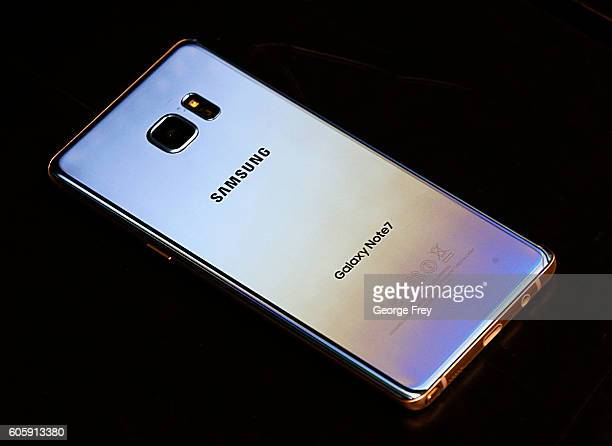 Samsung Galaxy Note 7 lays on a counter after it was retuned to a Best Buy on September 15, 2016 in Orem, Utah. The Consumer Safety Commission...