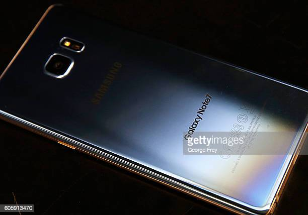 Samsung Galaxy Note 7 lays on a counter after it was returned to a Best Buy on September 15, 2016 in Orem, Utah. The Consumer Safety Commission...