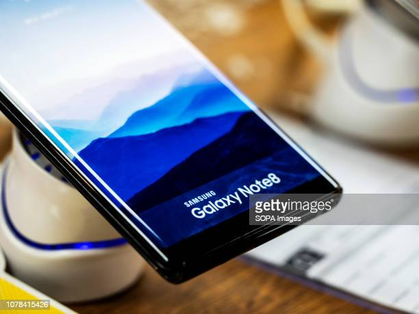 Samsung Galaxy Note 8 phone seen in the store