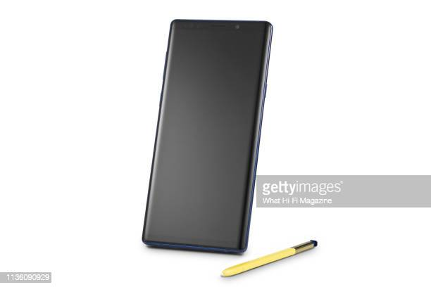 A Samsung Galaxy Note 9 smartphone and S Pen stylus taken on August 28 2018