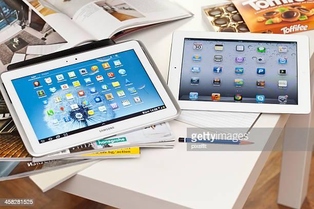 Samsung Galaxy Note and Ipad