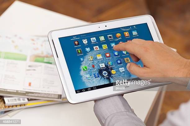 """samsung galaxy note n8000, 10.1"""" - samsung galaxy note stock pictures, royalty-free photos & images"""