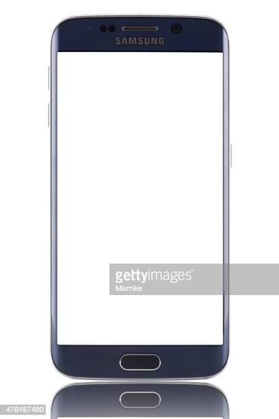 samsung galaxy s6 edge with blank screen and clipping path - android stock pictures, royalty-free photos & images