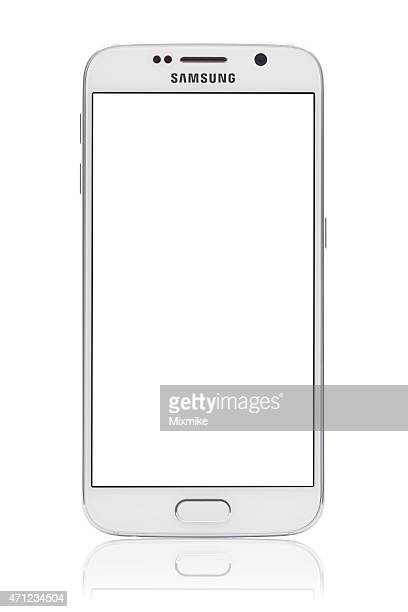 samsung galaxy s6 with blank screen and clipping path - samsung galaxy s stock pictures, royalty-free photos & images