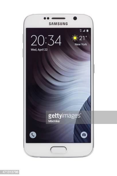 samsung galaxy s6 with clipping path - samsung galaxy s stock pictures, royalty-free photos & images