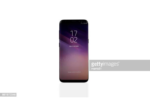 samsung galaxy s8 - number 8 stock pictures, royalty-free photos & images
