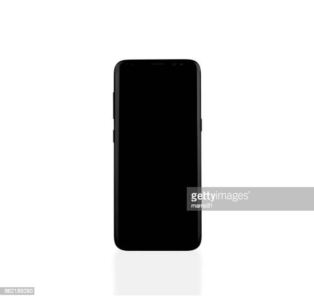 samsung galaxy s8 smartphone on white - number 8 stock pictures, royalty-free photos & images