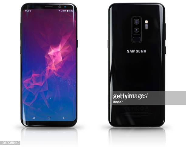 samsung galaxy s9 - plus key stock photos and pictures