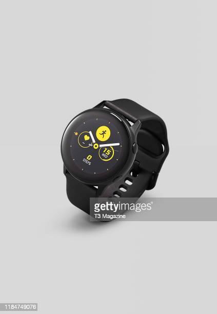 Samsung Galaxy Watch Active smartwatch, taken on April 5, 2019.