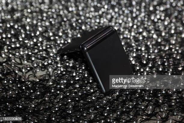 Samsung Galaxy Z Flip is seen backstage ahead of the Christopher Esber show during Afterpay Australian Fashion Week 2021 Resort '22 Collections at...