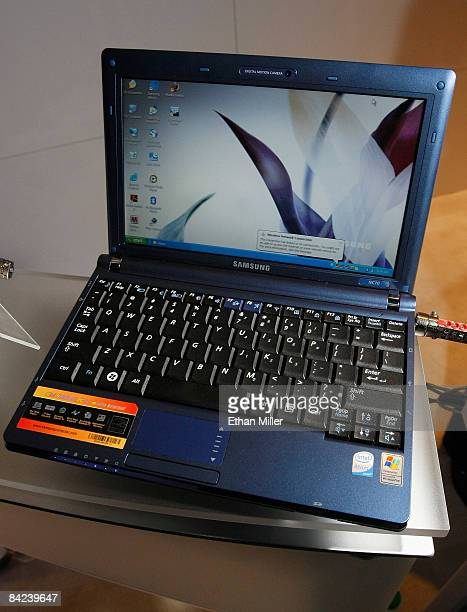Samsung NC10 netbook with an Intel Atom processor is displayed at the Intel Corp booth at the 2009 International Consumer Electronics Show at the Las...