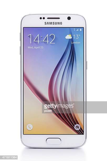 Samsung S 6 ホワイトのパール、クリッピングパス
