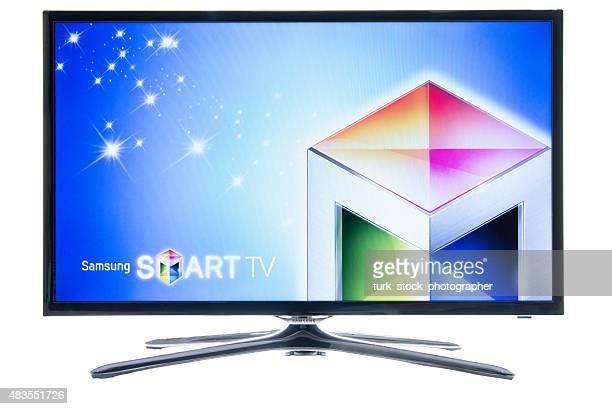 samsung ロゴスマートテレビ - ブランド サムスン ストックフォトと画像