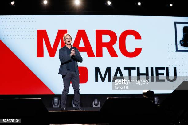 Samsung USA CMO Marc Mathieu speaks onstage at YouTube #Brandcast presented by Google at Javits Center North on May 4 2017 in New York City