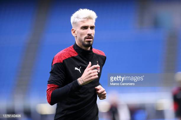Samu Castillejo of Ac Milan during the Serie A match between Fc Internazionale and Ac Milan Ac Milan wins 21 over Fc Internazionale