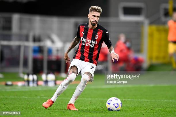 Samu Castillejo of AC Milan in action during the UEFA Europa League Third Qualifying Round football match between AC Milan and FK Bodo/Glimt AC Milan...